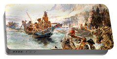 Lewis And Clark On The Lower Columbia  Portable Battery Charger