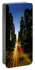 Lexington Avenue, Cityscape, Nyc, New Portable Battery Charger by Panoramic Images