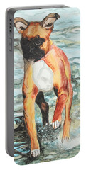 Portable Battery Charger featuring the painting Leyla by Jeanne Fischer