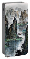 Portable Battery Charger featuring the photograph Li River by Yufeng Wang