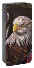 American Pride Portable Battery Charger by Peter Suhocke