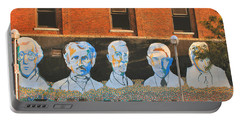 Liberty Street Mural Portable Battery Charger by Pat Cook