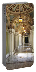 Library Of Congress Hallway Washington Dc Portable Battery Charger