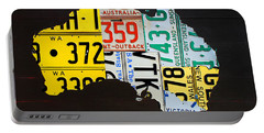 License Plate Map Of Australia Portable Battery Charger