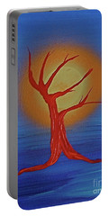 Portable Battery Charger featuring the painting Life Blood By Jrr by First Star Art