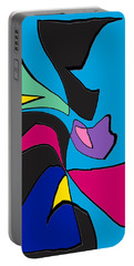 Original Abstract Art Painting Life Is Good By Rjfxx.  Portable Battery Charger
