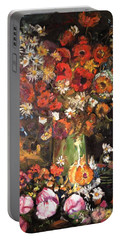 Portable Battery Charger featuring the painting Life Is Like A Vase Of Flowers by Belinda Low