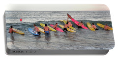 Portable Battery Charger featuring the photograph Lifeguard Competition by Kim Bemis