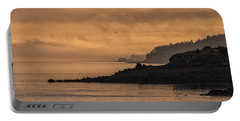 Portable Battery Charger featuring the photograph Lifting Fog At Sunrise On Campobello Coastline by Marty Saccone