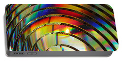 Light Color 2 Prism Rainbow Glass Abstract By Jan Marvin Studios Portable Battery Charger