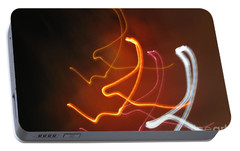 Portable Battery Charger featuring the photograph Light Drawing. I..i..i... Dancing Lights Series by Ausra Huntington nee Paulauskaite