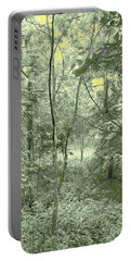 Light Forest Scene Portable Battery Charger