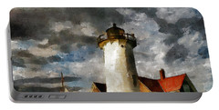 Light House In A Storm Portable Battery Charger