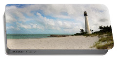 Light House On The Beach Portable Battery Charger