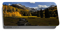 Light In The Valley Portable Battery Charger by Steven Reed