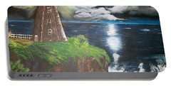 Portable Battery Charger featuring the painting Light Of The Moon by Sharon Duguay