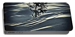 Portable Battery Charger featuring the photograph Light On The Snow by Janie Johnson