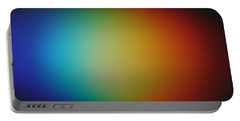 Light Refracted - Rainbow Through Prism Portable Battery Charger