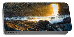 Light The Way - Arch Rock In Pfeiffer Beach In Big Sur. Portable Battery Charger