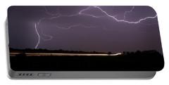 Portable Battery Charger featuring the photograph Lightening Bolts by Charles Beeler