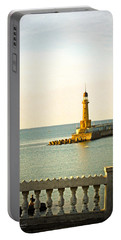 Lighthouse - Alexandria Egypt Portable Battery Charger by Mary Machare
