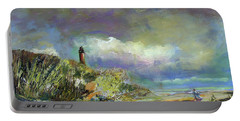 Lighthouse And Fisherman Portable Battery Charger