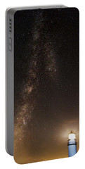 Lighthouse And Milky Way Portable Battery Charger