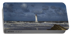 lighthouse at New Brighton Portable Battery Charger by Spikey Mouse Photography
