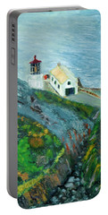 Lighthouse At Point Reyes California Portable Battery Charger