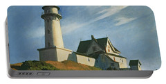 Lighthouse At Two Lights Portable Battery Charger