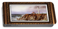 Lighthouse In Vintage Frame Portable Battery Charger