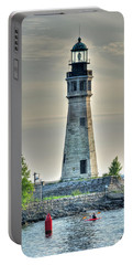 Lighthouse Just Before Sunset At Erie Basin Marina Portable Battery Charger