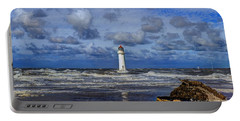 Lighthouse Portable Battery Charger by Spikey Mouse Photography