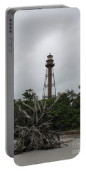 Lighthouse On Sanibel Island Portable Battery Charger by Christiane Schulze Art And Photography