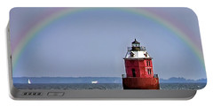 Lighthouse On The Bay Portable Battery Charger by Brian Wallace