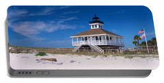 Lighthouse On The Beach, Port Boca Portable Battery Charger by Panoramic Images