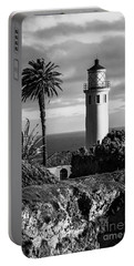 Portable Battery Charger featuring the photograph Lighthouse On The Bluff by Jerry Cowart