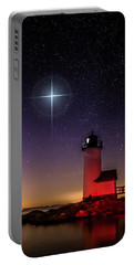 Portable Battery Charger featuring the photograph Lighthouse Star To Wish On by Jeff Folger