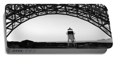 Lighthouse Under Golden Gate Portable Battery Charger by Holly Blunkall
