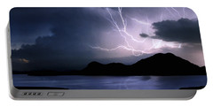 Lightning Over Quartz Mountains - Oklahoma Portable Battery Charger by Jason Politte