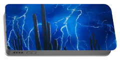Lightning  Over The Sonoran Portable Battery Charger