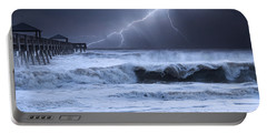Lightning Strike Portable Battery Charger by Laura Fasulo