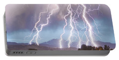 Lightning Striking Longs Peak Foothills 4c Portable Battery Charger