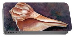 Lightning Whelk Portable Battery Charger by Barbara Jewell