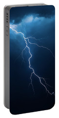 Lightning With Cloudscape Portable Battery Charger