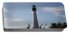 Ligthouse - Key Biscayne Portable Battery Charger by Christiane Schulze Art And Photography