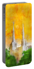 Portable Battery Charger featuring the painting Like A Fire Is Burning by Greg Collins