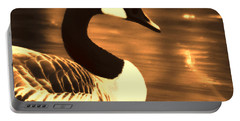 Lila Goose The Pond Queen Sepia Portable Battery Charger
