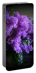 Lilac Bouquet Portable Battery Charger by Kay Novy