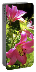 Lilies In The Garden Portable Battery Charger
